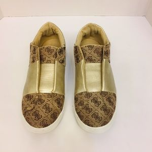 Guess Gold Slip on Women's Tennis Shoes